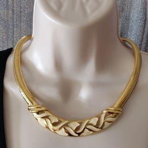 VTG Trifari enamel collar